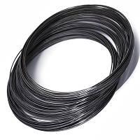 Проволока с памятью стальная для ожерелья, цвет: черный,  1 мм/115 мм (10 витков)