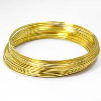 Проволока с памятью стальная для браслета, цвет: золото,  0,5 мм/65 мм (20 витков)