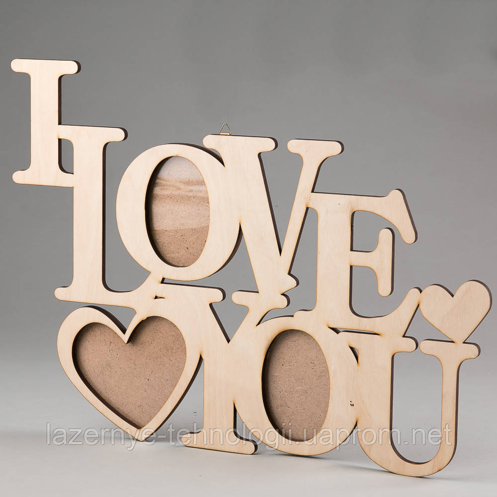 "Фоторамка""I love you"""