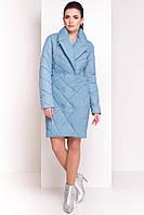 """Женское демисезонное пальто """"Сандра 4526"""", голубой, фото 1"""
