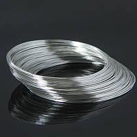 Проволока с памятью стальная для браслета, цвет: серебро,  0,5 мм/65 мм (20 витков)