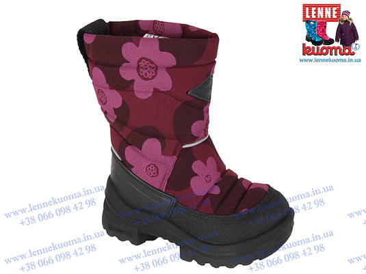 KUOMA Putkivarsi Bordeaux Flower. Зимняя обувь из Финляндии в ... e6a5b86ea48