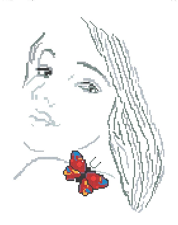 Схема для вишивки та вишивання бісером Бисерок «Душа метелика» (A3) 30x40 (ЧВ-5158(10))