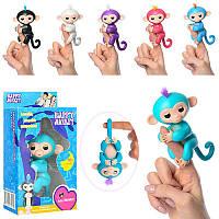 Фигурка Обезьянка (мавпочка) Fingerlings на палецинтерактивная 12 см 801 FNG, в коробке 20-10,5-6 см