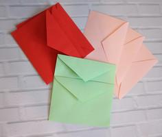 Новинка! Цветные конверты для открыток.