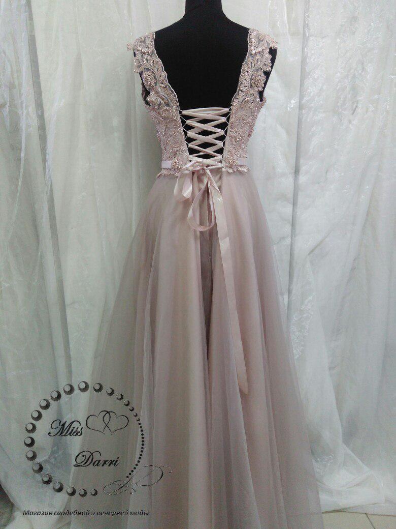 1d3c8d3cb8d Вечернее выпускное платье длинное цвета кофе с молоком