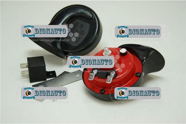 Сигнал звуковой Elephant красно-черный  (СА-10122)