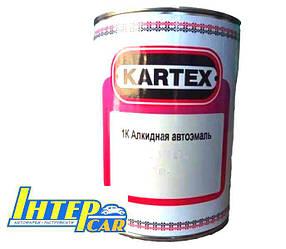 000 Чорна Матова  Kartex Автоэмаль алкидная 1К 0.8 л.