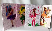 Дизайнерские открытки ручной работы для детей феи. Подарок