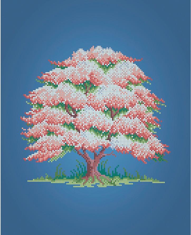 Схема для вишивки та вишивання бісером Бисерок «Дерево Весна» (A3) 30x40 (ЧВ-5325(10))