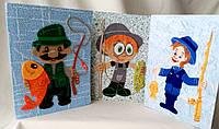 Дизайнерские открытки ручной работы для любителей рыбалки. Подарок