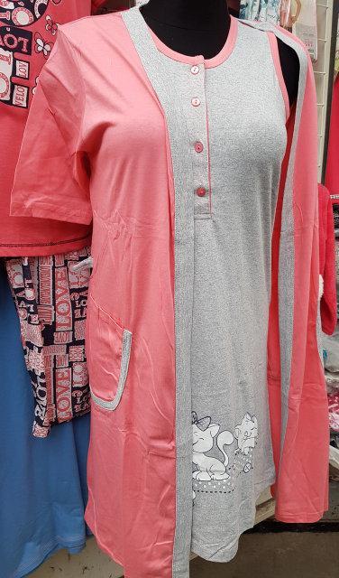 Женский комплект халат с ночной рубашкой SIS-177-1