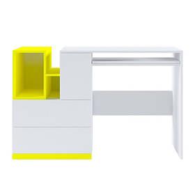 Стол письменный BIU/130 Моби желтый (Гербор ТМ)