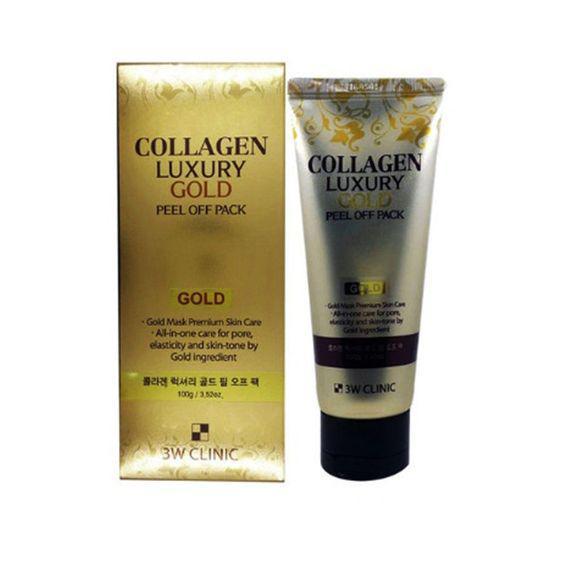 Золотая омолаживающая маска-плёнка 3W Clinic Collagen Luxury Gold Peel Off Pack