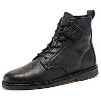 Оригинальные высокие ботинки Clarks, кожа, цвет черный, размер 43