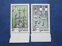 2 марки Гвинея Бисау 1983 спорт шахматы искусство