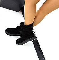 Черные женские замшевые сапоги от производителя