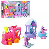 Игровой наборЛитл Пони (my Litle Pony) или Пони Парк 112, с каретой, поезд, пони, аксессуары