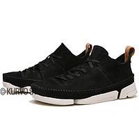 Оригинальные ботинки Clarks, замша, цвет черный, размер 42