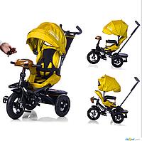 Велосипед-коляска с поворотным сиденьем, надувные колеса TILLY CAYMAN T-381 Жёлтый ***
