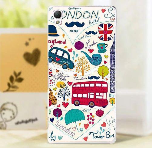 Бампер силиконовый чехол для Sony Xperia X с картинкой Лондон