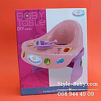 Стульчик для кормления куклы, звук, на батарейке в подарочной коробке 28,5-35-12 см