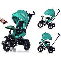 Велосипед-коляска с поворотным сиденьем, надувные колеса TILLY CAYMAN T-381 Бирюзовый ***