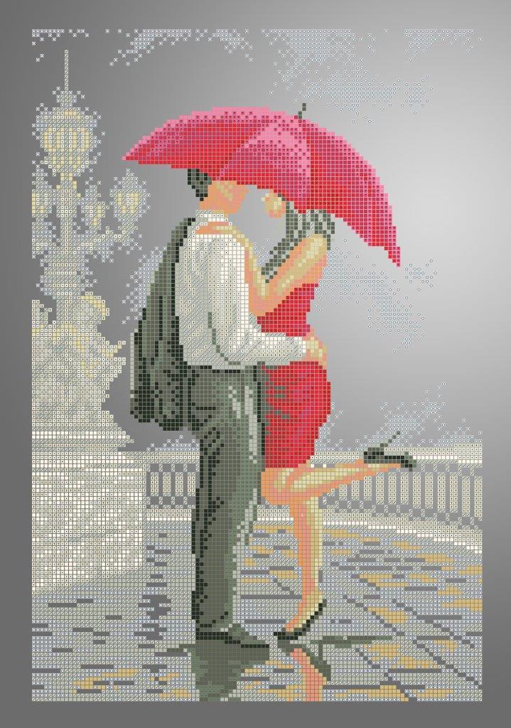 Схема для вишивки та вишивання бісером Бисерок «Під парасолькою 5334» (A3) 30x40 (ЧВ-5334 (10))