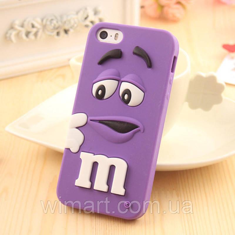 Чехол M&M's для Apple iPhone 6 Plus/6s Plus  фиолетовый