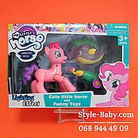 Набор Лошадка Little Pony, 11,5 см,единорог и рыбка 7см,свет в кор-ке 24,5-17-4,5 см