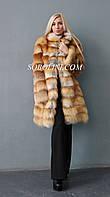 Превосходная шуба из отборного меха лисы, длина 85 см, фото 1
