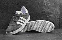 Кроссовки мужские Adidas Gazelle SD-4218 Материал замш. Темно-серые