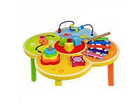 Игровой развивающий деревянный столик Baby Mix (HJ-D93995)