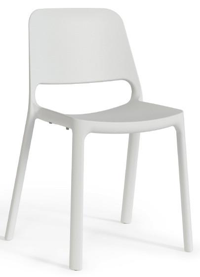 Стул пластиковый офисный Enrandnepr  ЭРА белый