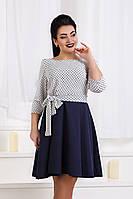 ДС1344 Платье клеш фукра размеры 50-56