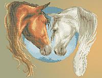 Схема для вишивки та вишивання бісером Бисерок «Пара коней 5183» (A3) 30x40 b222e8aa96fc3