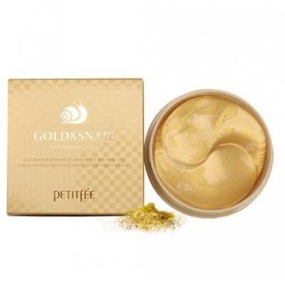 Патчи под глаза с Золотом и Улиткой Petitfee Gold & Snail Hydrogel Eye Patch 60 шт