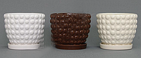 Горшок кактусник керамический для цветов
