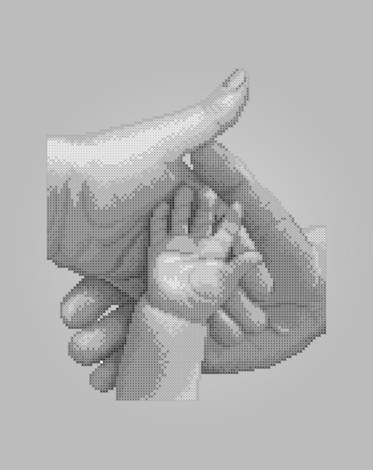Схема для вишивки та вишивання бісером Бисерок «Сімейство» Сірий фон (A3) 30x40 (ЧВ-5196-С (10))
