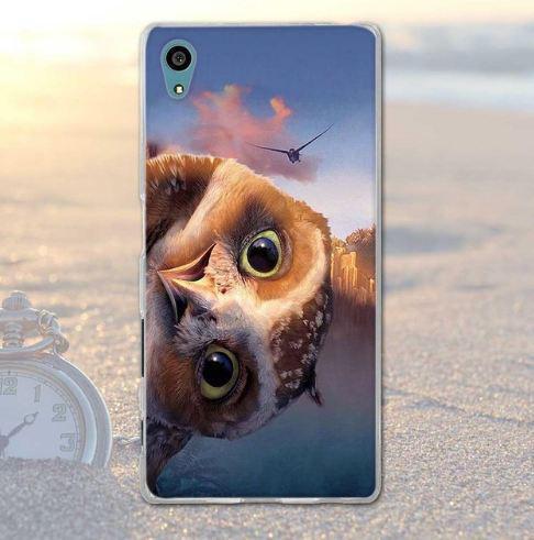 Силіконовий бампер з картинкою для Sony Xperia X Політ
