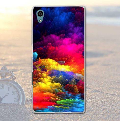 Силиконовый бампер с картинкой для Sony Xperia X Сказочное небо