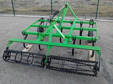 Культиватор навесной 1,5 м с катком на минитрактор