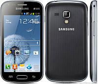 """Samsung S DUOS. 4"""" 2SIM 3G RAM0.8GB ROM4GB 1и5mPix Чёрно-синий. Белый. Защ.стекло"""