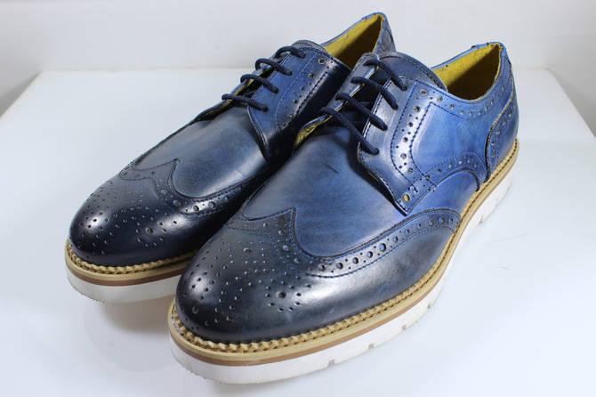 Итальянские мужские кожаные туфли броги 44 размер.