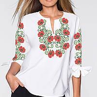 Заготовка вишиванки жіночої сорочки та блузи для вишивки бісером Бисерок  «Маки 122» (Б 9a00b2a2ccafb