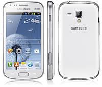 """Samsung S DUOS. 4"""" 2SIM 3G RAM0.8GB ROM4GB 1и5mPix Чёрно-синий  Белый. Защ.стекло"""