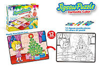 Пазл-раскраска Same Toy Новогодняя ёлочка 2170Ut, 2170Ut