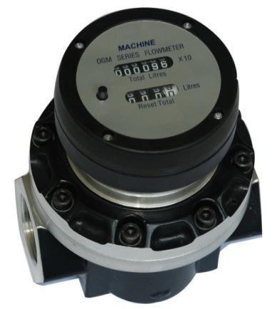 Счетчик ОГМ-A-50 М (30-300 л/мин) с механическим дисплеем (стальные шестерни)