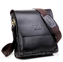 Мужская сумка Polo Videng через плечо   2 цвета Коричневый