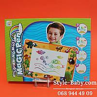 Коврик для рисования водой, трафарет 4шт, маркер для воды, в коробке 35-26-3cм